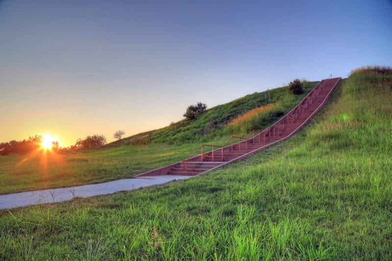 Cahokia Mounds State Historic Site, Collinsville, Illinois outside of St. Louis, Missouri