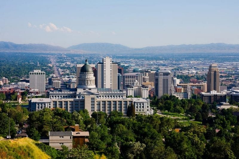 Utah - 45th State Admitted to the Union on January 4, 1896
