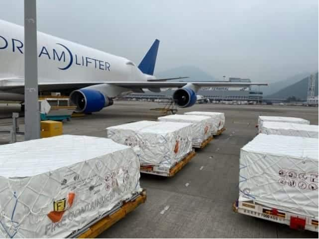 Boeing Dreamlifter Transports 1.5M Face Masks for COVID-19 Response