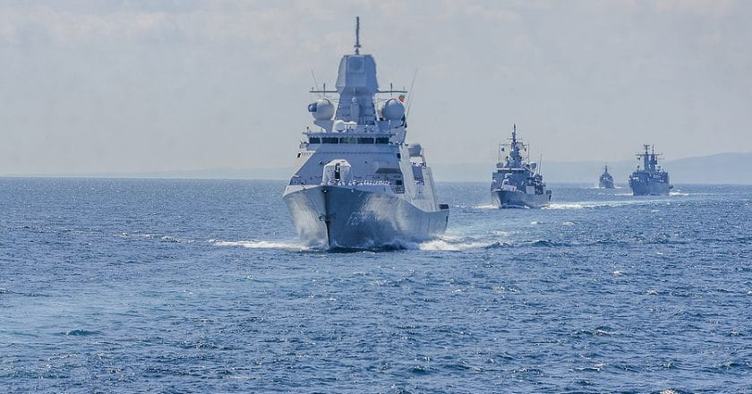 Phalanx Close-In Weapons System (CIWS) in the Arabian Sea