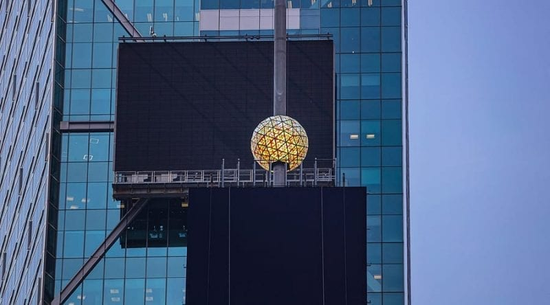 NYC: Crystals installed on Times Square New Year's ball