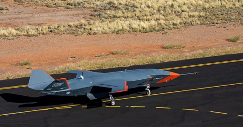 Boeing Uncrewed Loyal Wingman Conducts First High-Speed Taxi Test