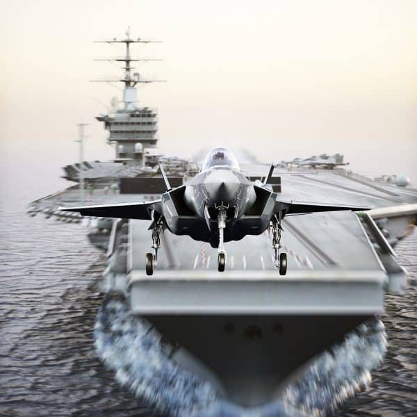 Hypnotic US F-35 Take-off From Aircraft Carrier