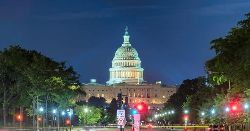 U.S Capitol under heavy security days after the violence in Capitol Building