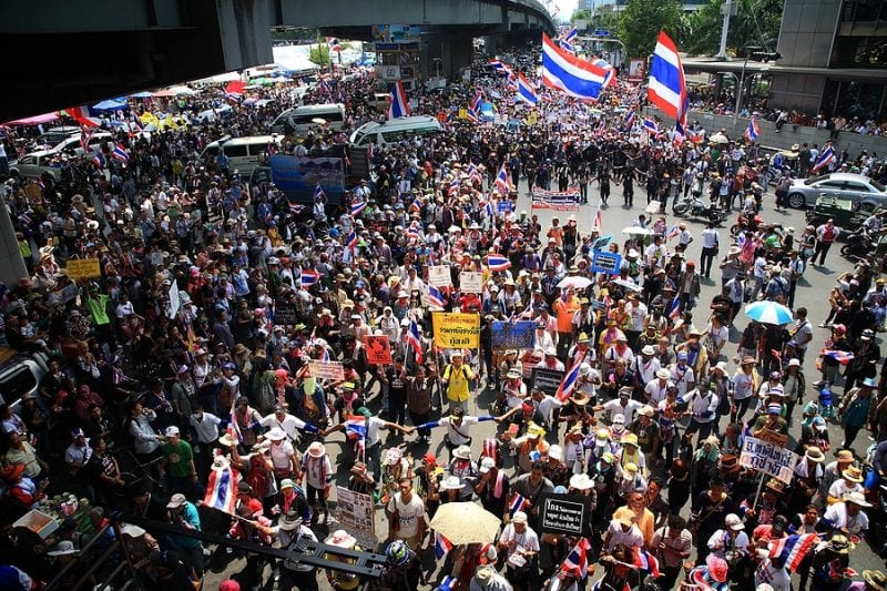 Thailand: Court indicted 18 activists for roles in anti-government rallies